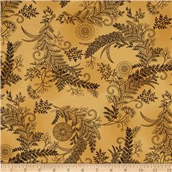 Moda Bee Inspired Botanical Sketch Honey Yellow