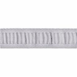 7/8'' Ruched Ruffle Satin Edge Ribbon Grey