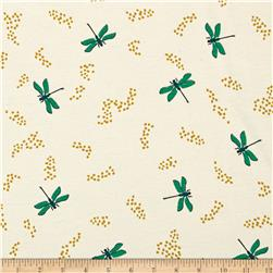 Birch Organic Swan Lake Interlock Knit Dragonflies Cream