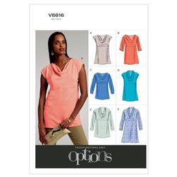 Vogue Misses' Top and Tunic Pattern V8816 Size A50