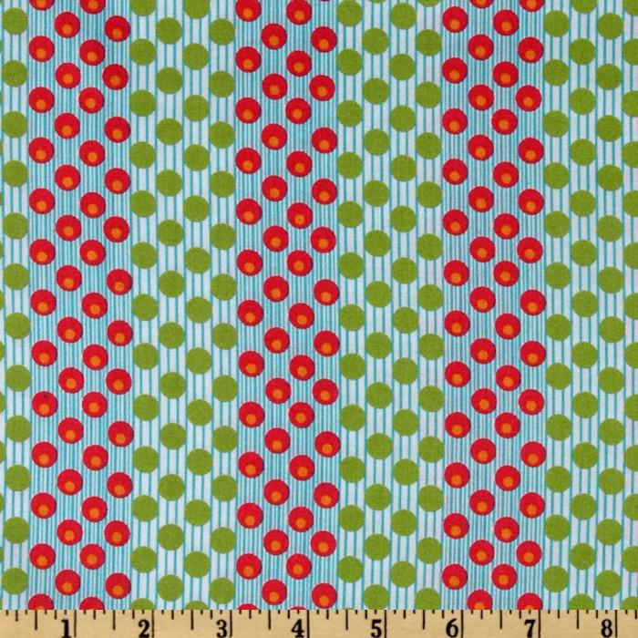 Dilly Dally Dotty Stripe Fuchsia/Lime