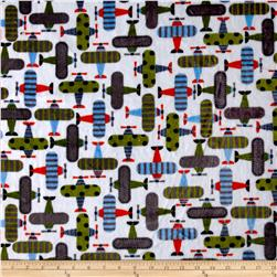 Shannon Minky Cuddle Prints Take Off Kiwi