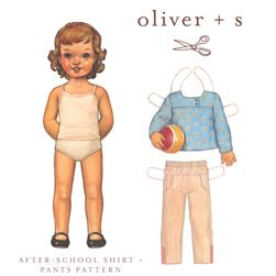 Oliver + S After School Shirt + Pants Pattern Size 6m-4T
