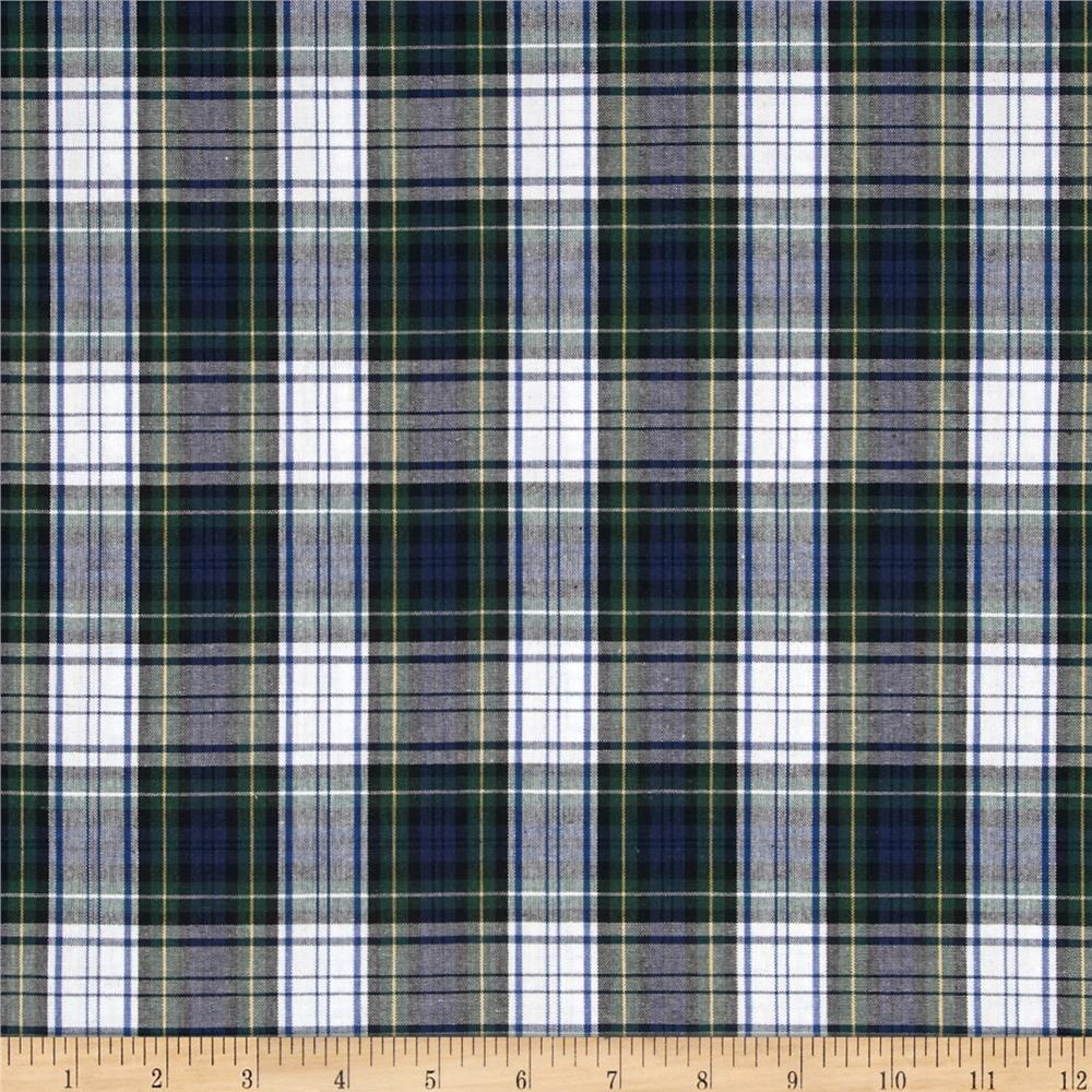 Poly/Cotton Uniform Plaid Blue/Green/White/Yellow - Discount ...
