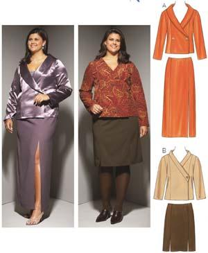 Kwik Sew Women's Double Button  Jackets & Skirts Pattern