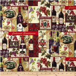 Wine Country Patch Collage Multi