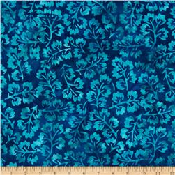 Moda Breezy Batik Leaves Ocean Royal/Aqua
