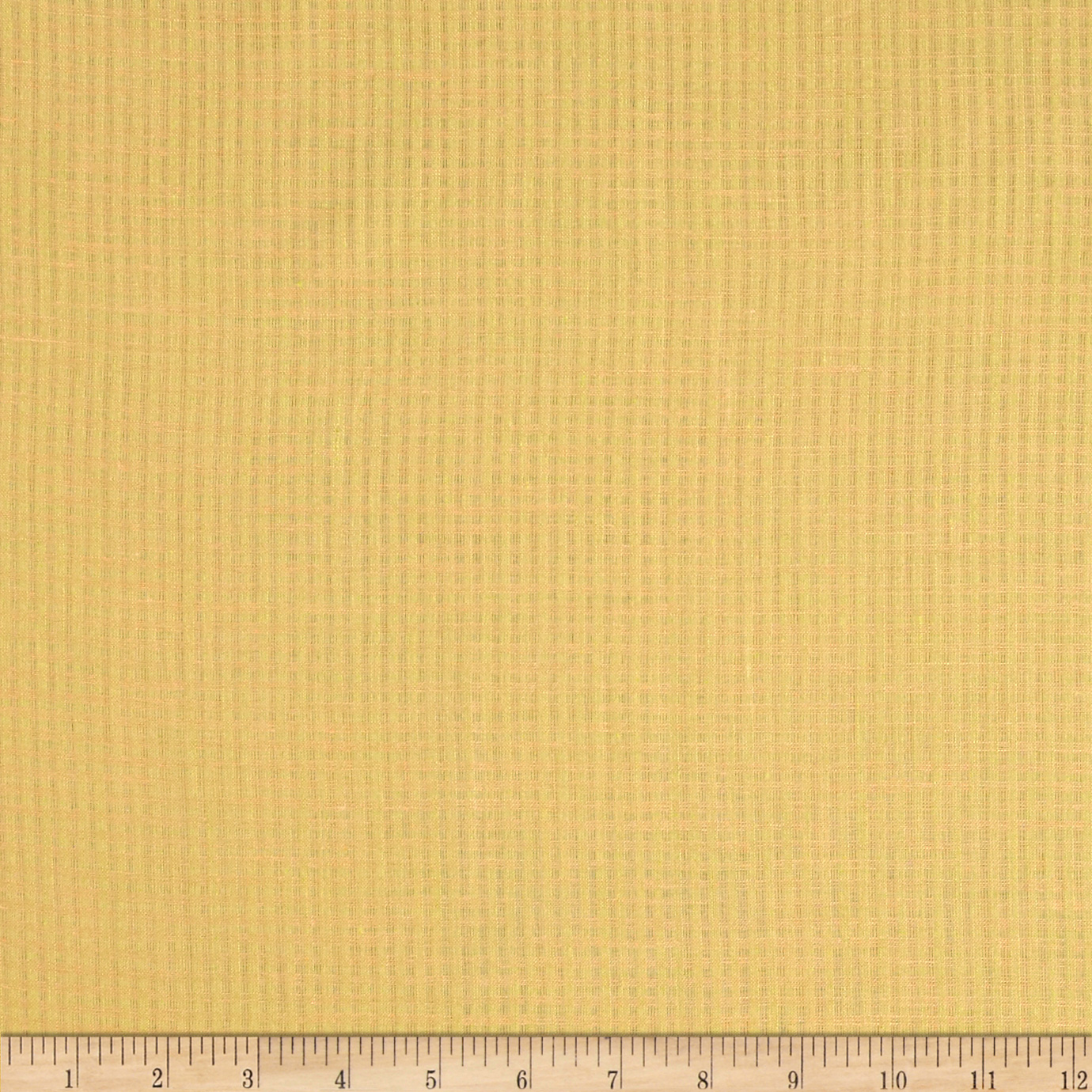 Check Linen Golden Yellow Fabric