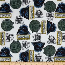 Star Wars Angry Birds Flannel White Fabric