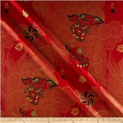Alexander Henry Indochine Golden Shishi Red Fabric