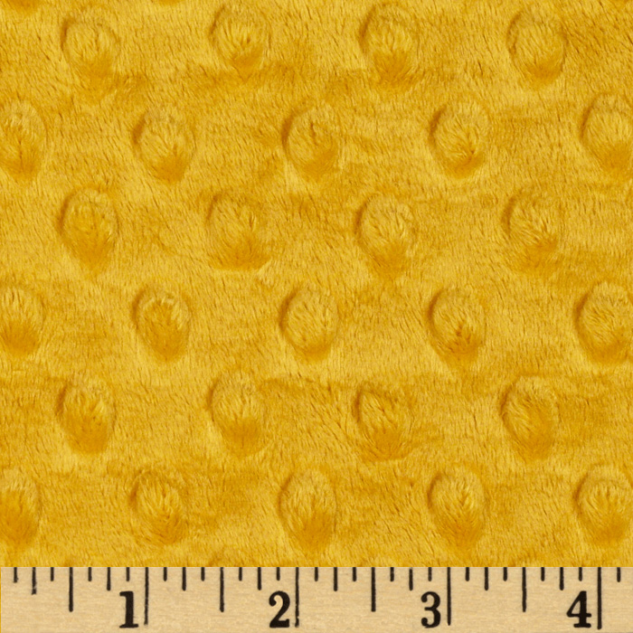Shannon Minky Cuddle Dimple Dot Gold Fabric by Shannon in USA
