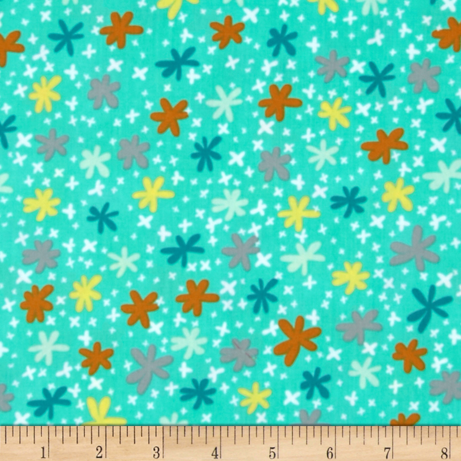 Art Gallery Nordika Sweetish Turquoise Fabric by Art Gallery in USA