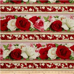 Bed of Roses Repeating Stripe Multi