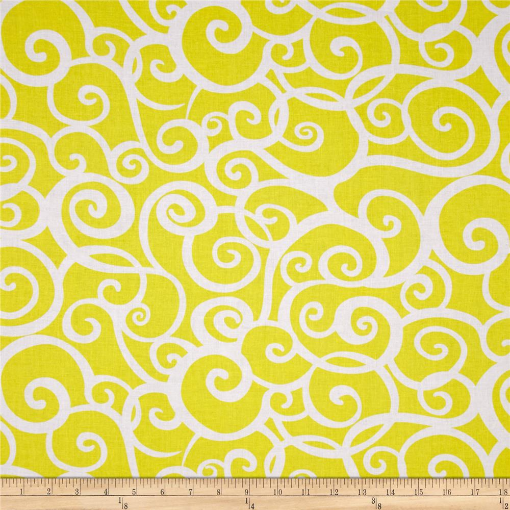 Kanvas Lemon Tree Swirl Yellow/White