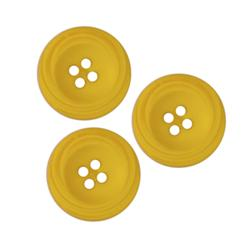 Fashion Button 3/4'' Clarisa Yellow