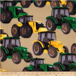 WinterFleece Tractors Tan Fabric