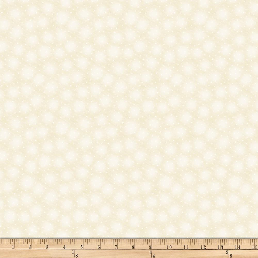 Blank Quilting Starlet Mini Star With Texture Ivory