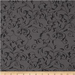 110'' Wide Quilt Back Filigree Charcoal