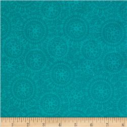 Altiora Tone on Tone Medallion Turquoise