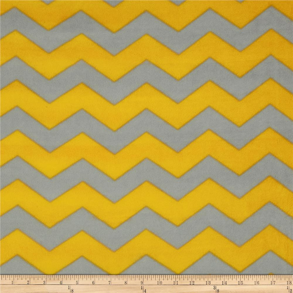 Chevron Fleece Grey/Yellow