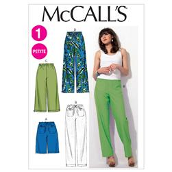 McCall's Misses'/Miss Petite Shorts and Pants Pattern M6568 Size 0Y0
