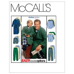 McCall's Boys'/Men's Robe With Tie Belt, Top, Pull-On