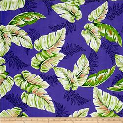 Tropical Dream Palm Shirting Purple