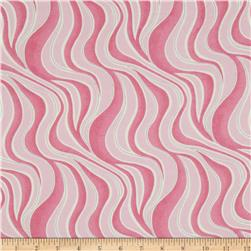 Cotton Candy Flannel Wavy Stripe Pink Fabric