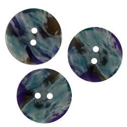 Fashion Button 3/4'' Duncan Blue Multi