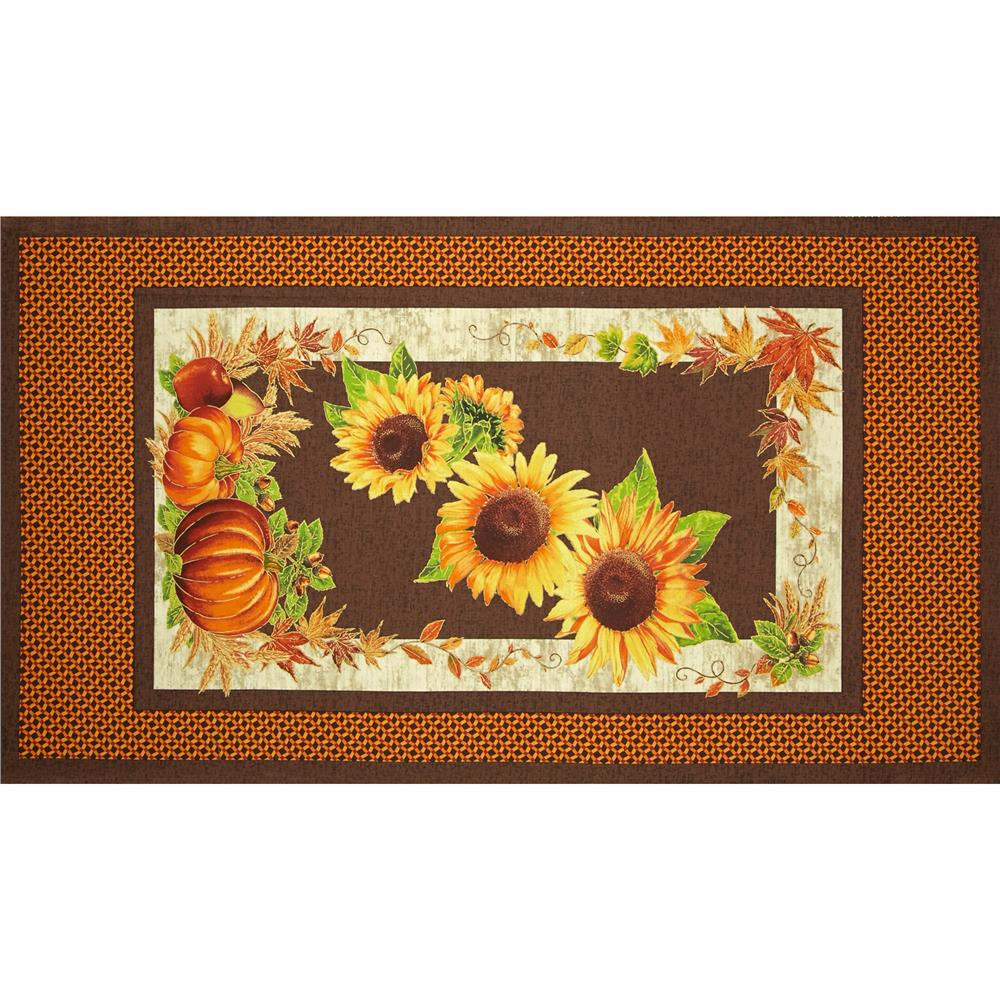 Sunflower Trails 24 In. Sunflower Panel Yellow/Brown