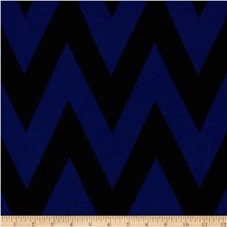 Fashionista Jersey Knit Medium Chevron Blue/Black
