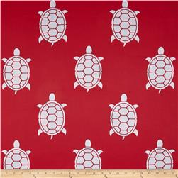 RCA Blackout Drapery Fabric Turtles Red/White