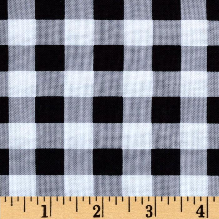 Brights & Pastels Basics Large Plaid Black