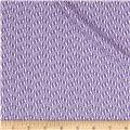 Stretch Jacquard Knit White/Purple