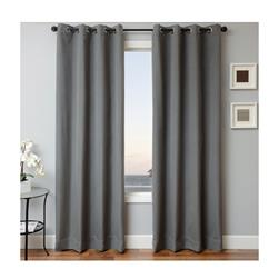 Sunbrella 84'' Solid Grommet Outdoor Panel Charcoal