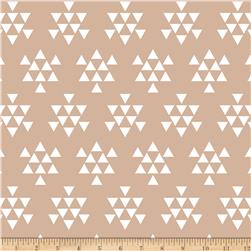 Bolt By Girl Charlee Desert Sky Jersey Knit Triangle Arrows Almond