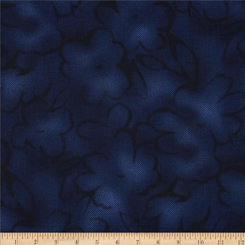 Jinny Beyer Chelsea Abstract Floral Navy