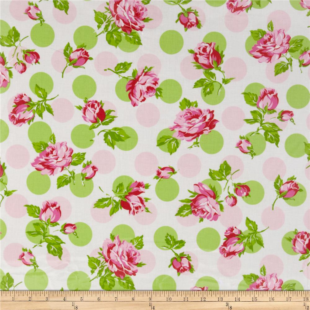 Tanya Whelan Sugar Hill Laminated Cotton Falling Rose Pink