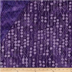 Indian Batik Double Sided Quilted Vertical Dots Lavender/Purple