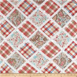 Vintage Cuts Patchwork Coral