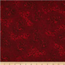 "Essentials 108"" Quilt Back Scroll Dark Red"