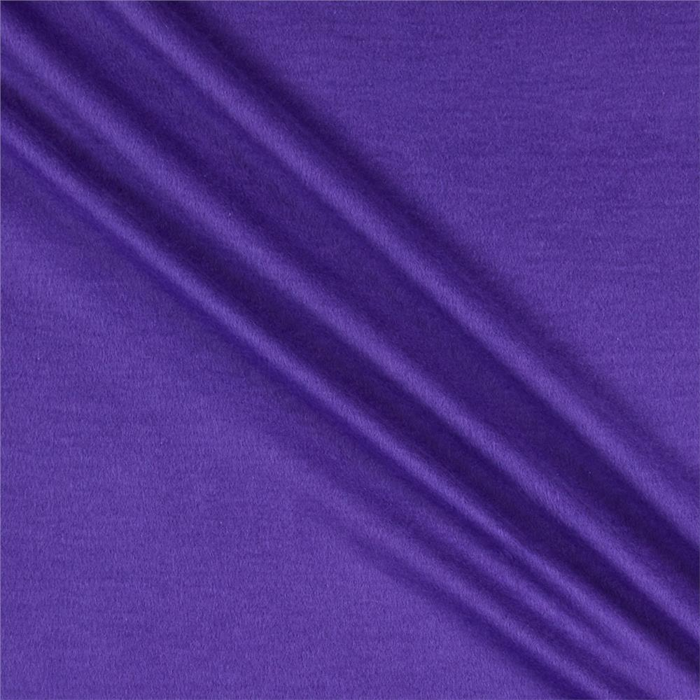 Organic Cotton Sweatshirt Fleece Purple Fabric By The Yard