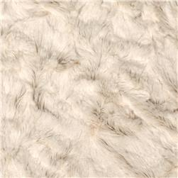 Minky Crushed Soft Cuddle Ivory Fabric
