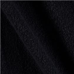 Modal/Poly Sherpa Fleece Knit Black