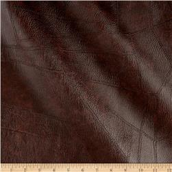 Faux Leather Patchwork Brown