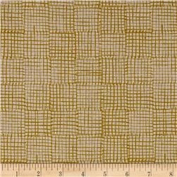 Maker Maker Linen Blend Grid Yellow