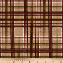 Moda Forever Green Plaid Burlap
