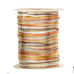 May Arts Satin String Spool Brown/Copper/Gold