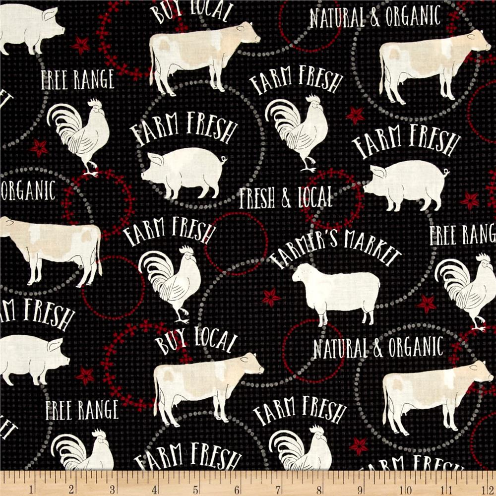 Farm to Table Animals Black