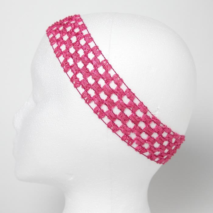 1 3/4'' Stretch Crochet Headband Fuchsia